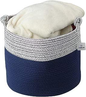 ICEBLUE HD Cotton Rope Looped Handle Storage Basket Bucket Closet Organizer Blankets Storage Sccarf Organizers Storage Chest