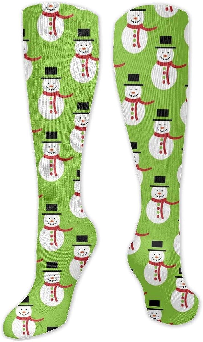 Christmas Snowman Cute Knee High Socks Leg Warmer Dresses Long Boot Stockings For Womens Cosplay Daily Wear