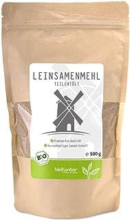 bioKontor // Leinsamenmehl, Leinmehl - teilentölt, low carb, Omega-3-Fettsäuren, Ballaststoffreich - 500 g - BIO 500g
