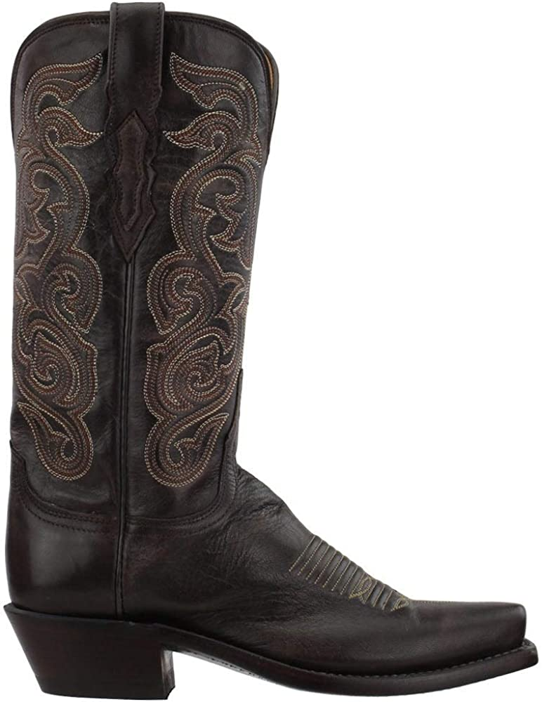 Lucchese Womens Annie Goat Snip Toe Boots Mid Calf Low Heel 1-2