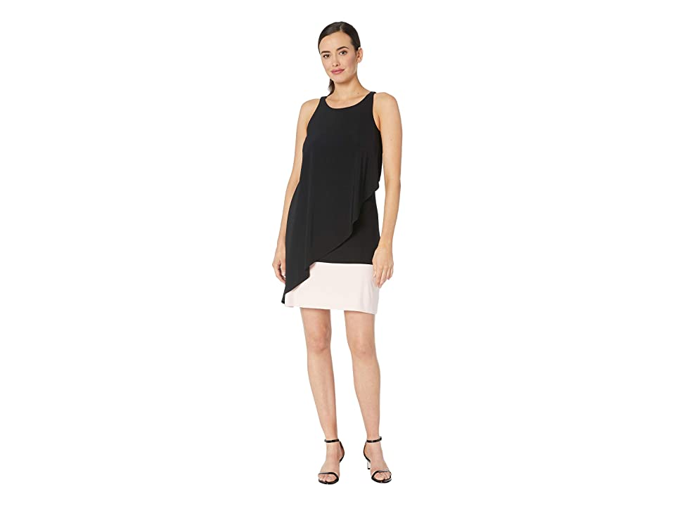 Tommy Hilfiger Solid Jersey Dress (Black/Ballerina Pink) Women