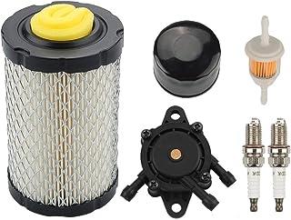 Powtol MIU14395 Air Filter + AM125424 Oil Filter + LG808656 Fuel Pump Maintenance Kit for John Deere D100 D110 D130 D140 D160 D170 D105 D120 Z225 Z235 LA115 LA105 LA145 E130 E100 E120 Mower