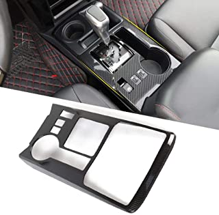 JeCar 4Runner Gear Shifter Panel 4Runner Accessory Decoration Trim Frame ABS for Toyota 4Runner 2010 2011 2012 2013 2014 2015 2016 2017 2018 2019 Carbon Fiber Pattern 1Pcs
