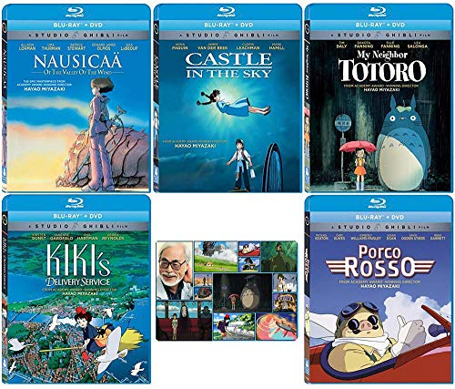 The Founders Blu-ray Collection: Written & Directed by Hayao Miyazaki (Nausicaa of the Valley of the Wind / Castle in the Sky / My Neighbor Totoro / Kiki