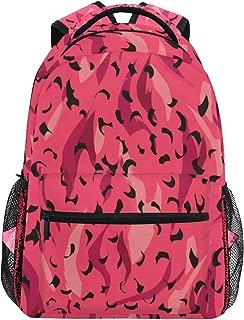 NIKIVIVI Student Backpack Vector Wild Animal Panther Leopard Pattern Big for Girls Boys Elementary School Shoulder Bag Bookbag