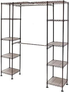 Seville Classics Expandable Double-Rod Clothes Rack Closet Organizer System, 58