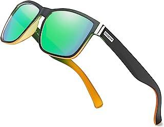 Vintage Polarized Sunglasses for Men Women Retro Square...