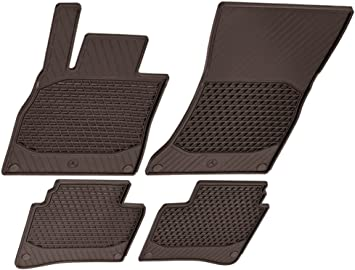 Amazon Com Mercedes Benz Oem All Weather Season Floor Mats 2014 To 2020 S Class 4 Door Sedan S550 S450 S560 S600 S63 S65 Set Of 4 Color Brown Automotive