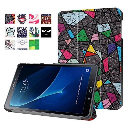 Funda para Samsung Galaxy Tab para A SM T580SM y SM-T585de 10.1pulgadas delgada y elegante, con soporte desplegable multicolor diseño 1
