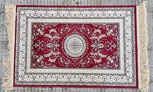 tappeto modello persiano vari colori varie misure con frangia made in belgium (60X110, Bordeaux)