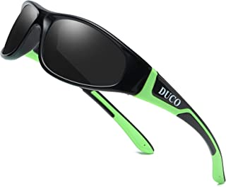 Duco Kids Sports Style Polarized Sunglasses Rubber...