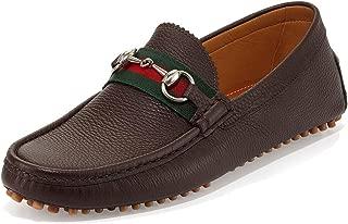 Men's 'Damo' Leather Horsebit Driver, Dark Brown 322741
