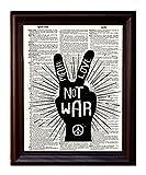 Make Love Not War - Dictionary Art Print