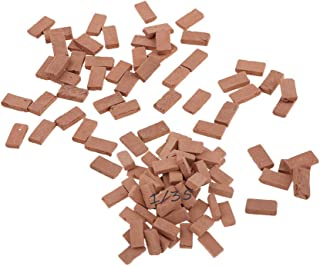 MOMAA 1/35 Miniature Brick -Scale Wall Bricks Mini Bricks Model DIY Dollhouse Bricks Diorama Fairy Garden Sand Table Micro...