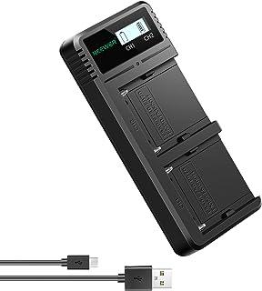 Neewer デュアルUSB充電器 高速バッテリー充電器 LCDディスプレイ付き 多用途充電オプション Sony NP-F970 NP-F960 NP-F950 NP-F930 NP-F770 NP-F750 NP-F570 NP-F550に適用