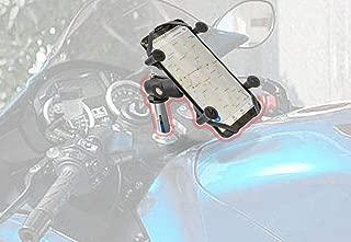 X Web Grip Mount Phone GPS Navigation Cradle Holder for Kawasaki Ninja 400/250,ER-6F,Ninja 650,ZG1400 Concours14,Z1000SX,Ninja 1000,ZX-14R Ninja,ZZR 1400,ZX600 Ninja ZX-6RR,Ninja ZX-6R