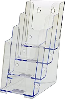 Source One 4 Tier Tri-fold Brochure Holder Lucite Counter Top (S104-BM)