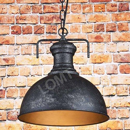 Lampadaire vintage - Avec chaîne - Noir
