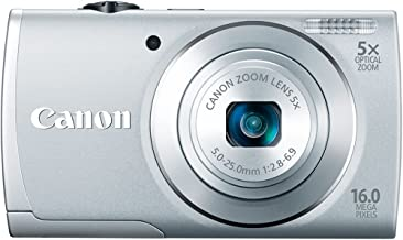 Canon PowerShot A2600 IS 16.0 MP Digital Camera with 5x Optical Zoom and 720p Full HD Video Recording (Silver) (OLD MODEL)