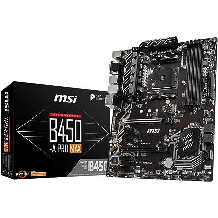MSI ProSeries AMD Ryzen 2ND and 3rd Gen AM4 M.2 USB 3 DDR4 D-Sub DVI HDMI Crossfire ATX Motherboard (B450-A Pro Max) (B450APROMAX)