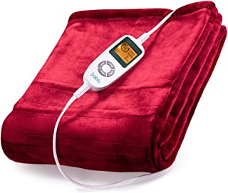 Sable Electric Throw, Blanket Fast-Heating, Full Body Warming ETL Certified, 10..