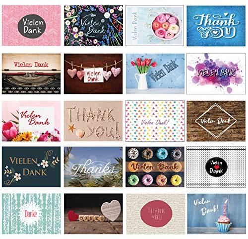 Dankeskarte Dankeskarten Dankeschön Karten Danksagungskarten Konfirmation Hochzeit Karte Thank you Kollege Kollegin Karte Danke Postkarte Vielen Dank (Dankeskarten)