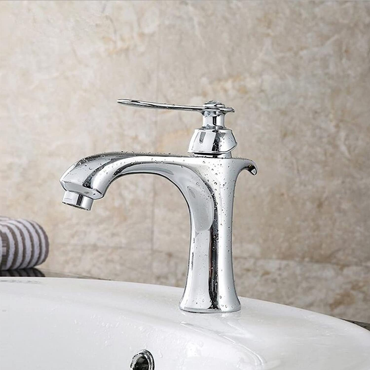 Bathroom Basin Faucet Brass Single Hole Basin Tap Hot And Cold Mixer Tap Basin Sink Mixer Tap Bathroom Sink Taps