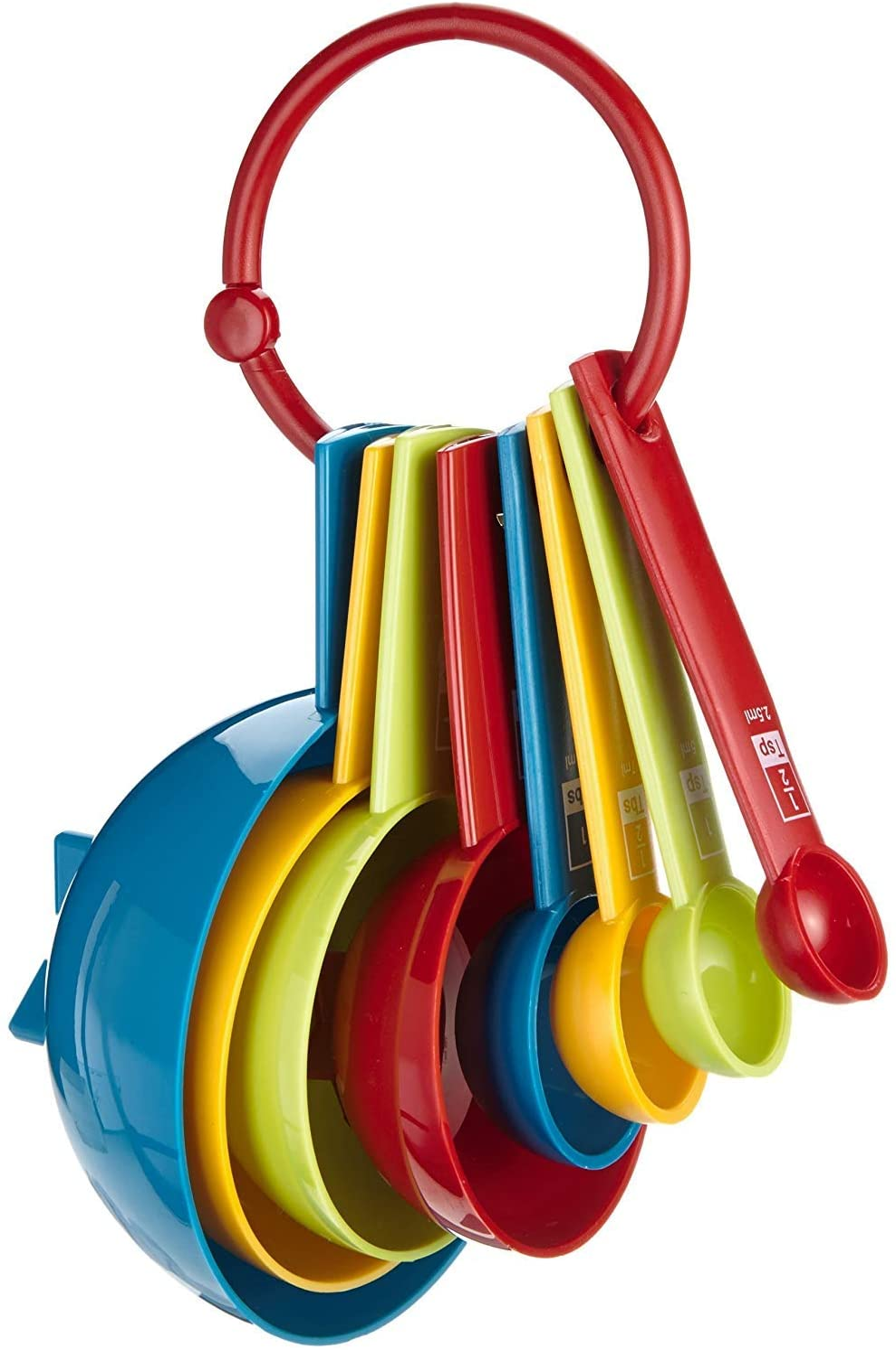 Kitchen Craft Miniamo Brights - Juego cucharas y Tazas medidoras (8 Piezas)