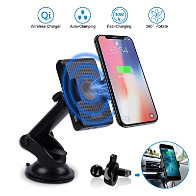 Wireless Car Charger Mount, 10W Fast Qi Car Cha...