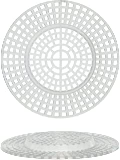 Darice Bulk Buy DIY Plastic Canvas Shape Round with Raised Center 3 inches 10 Pieces (6-Pack) 33002