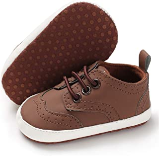 BENHERO Baby Boys Girls Oxford Shoes Soft Sole PU Leather...