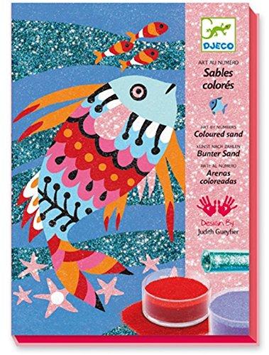 Djeco Kreativ Set Sandbilder Fish Rainbows mit Glitzersand
