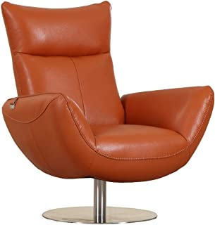 Fabulous Amazon Com Orange Leather Chairs Living Room Machost Co Dining Chair Design Ideas Machostcouk