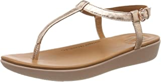 FitFlop Women's Tia Thong Open Toe Sandals, Pink Rose Gold 323, 43
