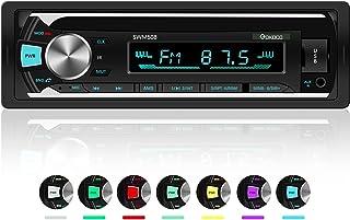 XYFANG Autoradio mit Bluetooth Freisprecheinrichtung,1 DIN Autoradio MP3 Player/USB/TF/AUX/FM Audio Empfänger ,USB Anschlüsse Für Musikspielen ,7 LED Farben