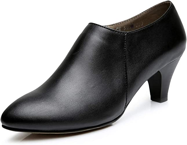 HOESCZS Chaussures pour Femmes à Un Talon Pointu Et à La Gorge Profonde pour Femmes