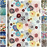 DuraSafe Cases for iPad Mini 1st Gen/Mini 2nd Gen/Mini 3rd Gen - 7.9 Flip Cover with Auto Sleep/Wake Function, Slim Profile & Adjustable Viewing Angle Stand - Yarn Flowers