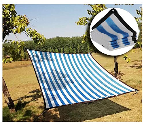 Shade Verrekening 2m3m4m5m6m8m10m12m breed privacy netting tuin screenen windscherm schermen 95 procent schaduw hek net, Meerdere Maten (Color : Blue White, Size : 2×4m)
