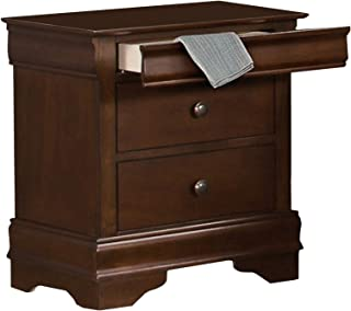 Benjara Benzara Wooden Nightstand with Hidden Drawer, Brown,
