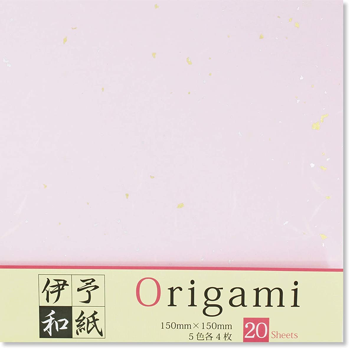Washi Origami (Japanese Traditional Paper), 4 Colors, Premium Quality, Made in The Iyo Region of Japan, 6-inch Square (Sakura Mix)
