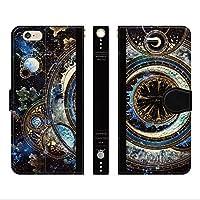 ブレインズ iPhone6S iPhone6 手帳型 ケース カバー 宇宙の光魔法書 よう wonder collection 宇宙 きれい 魔法 月