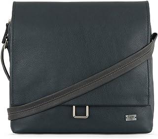 Baggit Autumn-Winter 2021 Faux Leather Men's Messenger Handbag (Blue) (G Lukas)