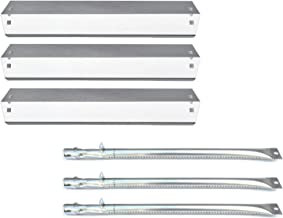 Direct store Parts Kit DG152 Replacement Chargriller 3001,3008,3030,4000,5050,5252; King Griller 3008,5252 Gas Grill Burner & Heat Plate (SS Burner + SS Heat Plate)