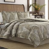 Tommy Bahama Raffia Palms Comforter Set, Queen, Brown