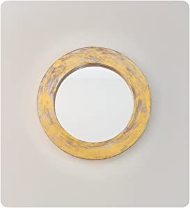 Espejos Pared Decorativos Round Polos. Set 3 (60)+(30)+(44) en Oro (Envejecido)