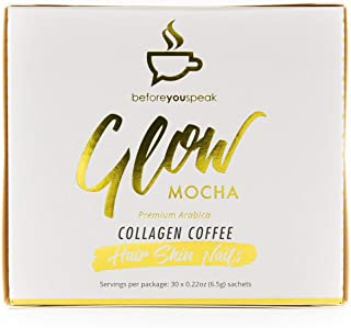 Before You Speak Glow Collagen Mocha Coffee, 30 Count