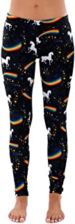 Qootent Women Rainbow Print Leggings Yoga Pant Tights Trouser Sports Sweatpant