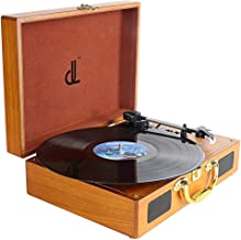 PC Encoding Record Player,3-Speed Vinyl Turntable Built-in 2x1W Speakers, RCA/AUX/Headphone Jack Record Player