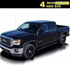 Yumy 2pcs 4in. Oval C/S Side Step Nerf Bars Running Boards for 07-17 Silverado/Sierra Crew Cab (Exclude Diesel Models w/DEF Tank)