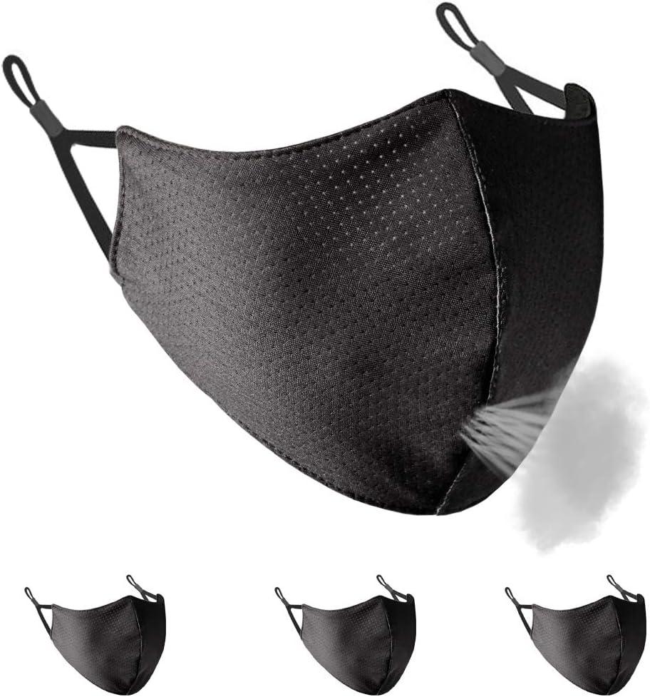 Borgasets Breathable Sport Face Mask for Men Women Youth Adjustable Washable Comfort Mask